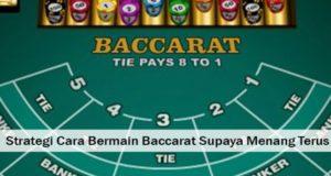 Trik Bermain Baccarat Martingale Agar Menang Main Judi Baccarat Online